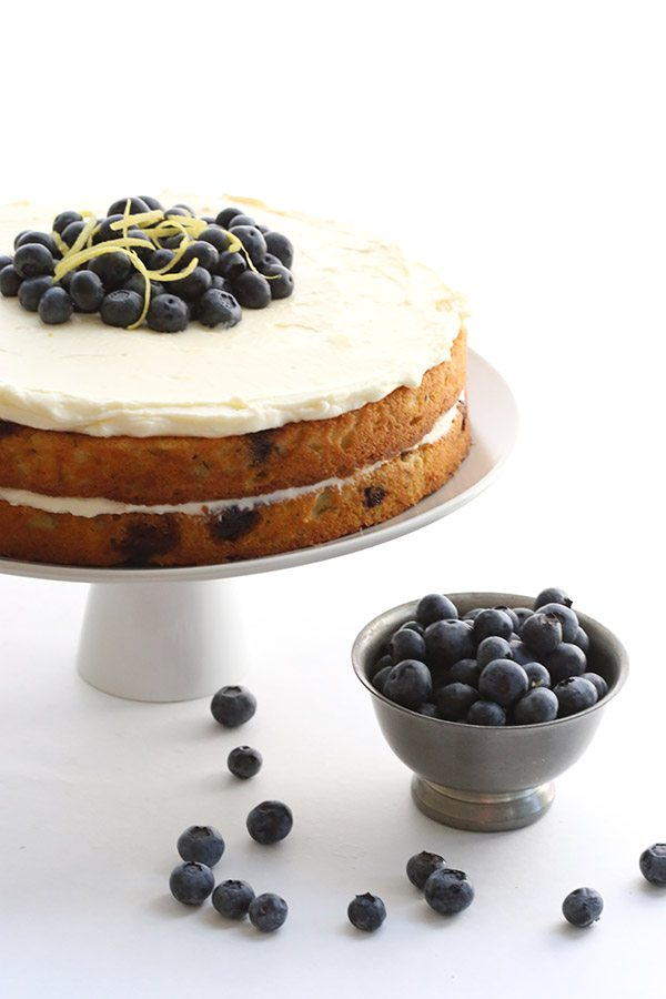 Low Carb Sugar-Free Blueberry Zucchini Cake - this will be your favourite cake of the summer!