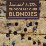 Low Carb Browned Butter Chocolate Chip Bars