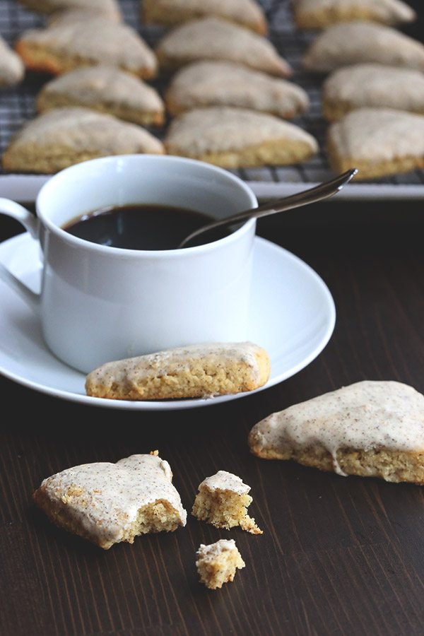 Mini Vanilla Bean Scones - low carb and gluten-free
