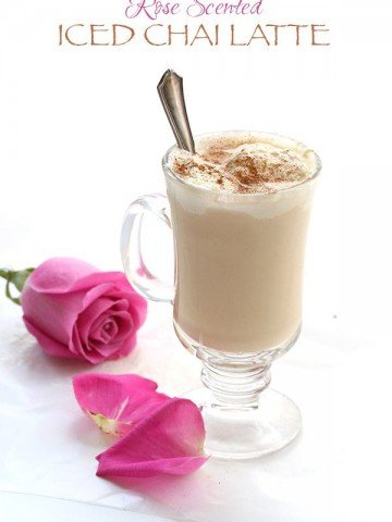 Low Carb Iced Chai Latte with Rose Water