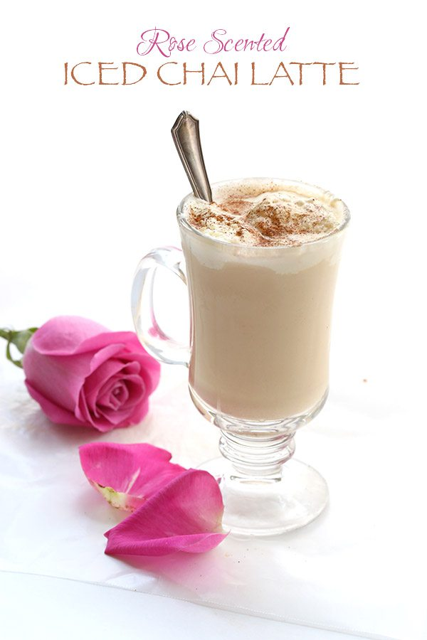 Rose-Scented Ice Chai Latte 3