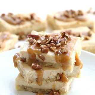Low Carb Salted Caramel Cheesecake Bar Recipe