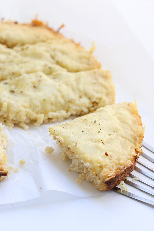 Low Carb Cauliflower Cheesy Garlic Bread cooked in your slow cooker!
