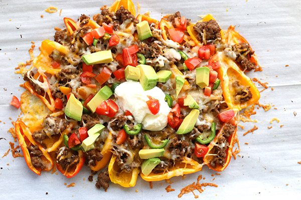 Mini Pepper Nachos - a healthy whole food take on a kid-friendly meal. Low carb and primal.