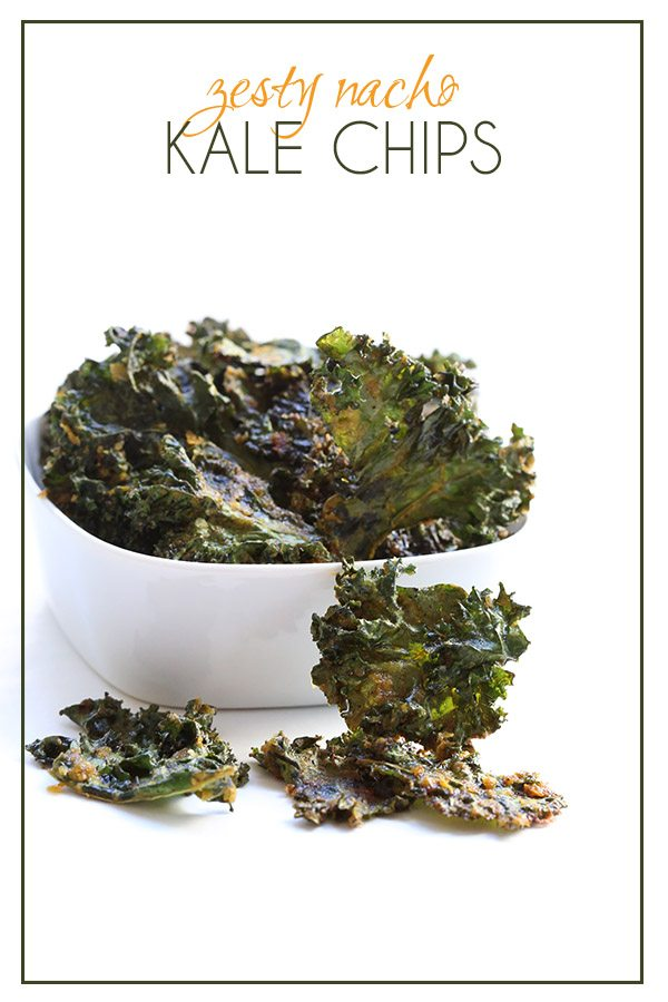"Paleo low carb ""Nacho"" Kale chips with spices and nutritional yeast."