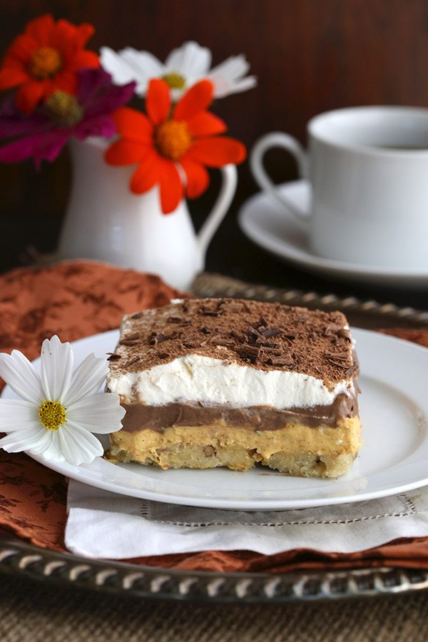 Low Carb Chocolate Pumpkin Lasagna