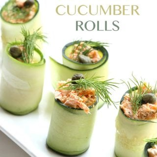 Low Carb Smoked Salmon Cream Cheese Cucumber Rolls