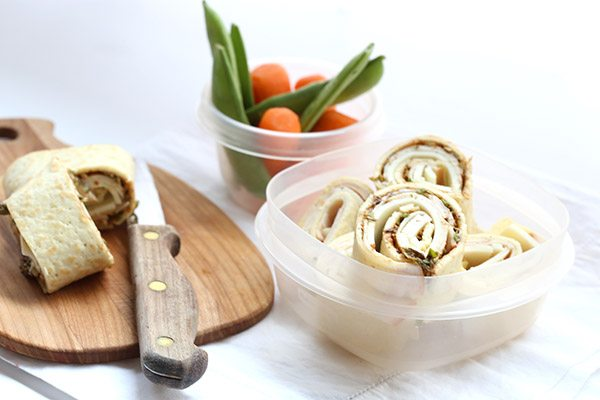 Turkey Cheese Roll Ups with almond flour cream cheese crepes. Low carb and gluten-free.