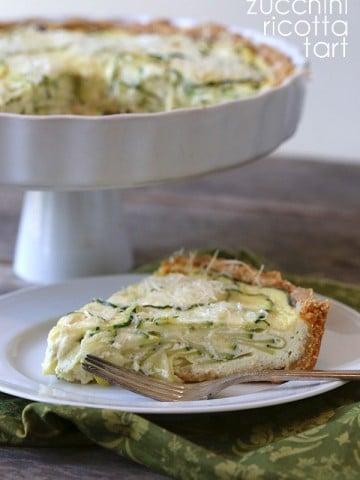 Low Carb Grain-Free Zucchini Ricotta Tart