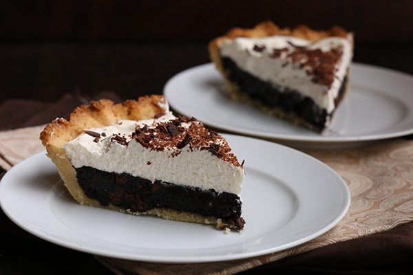 Chocolate Brownie Pie REcipe - sugar-free, low carb, gluten-free, #chocolateforjoan