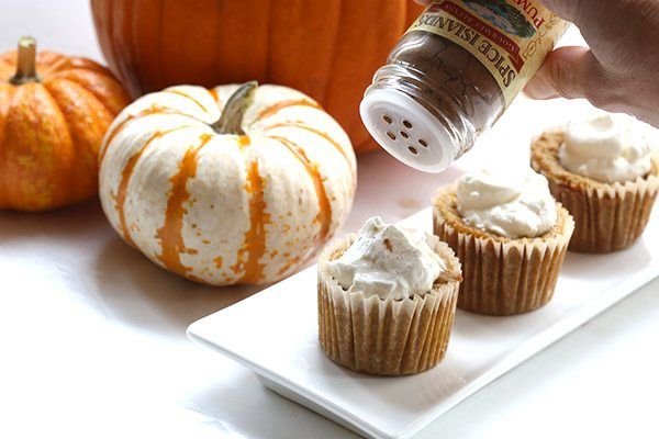 Delicious low carb pumpkin pie cupcakes - real food and real flavor!