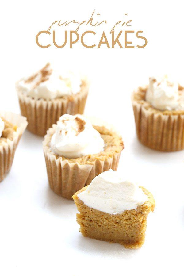 Low carb healthy pumpkin pie cupcakes