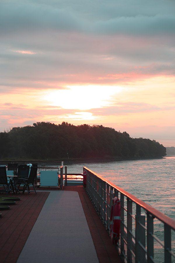 Sunrise in Austria from Viking River Cruises