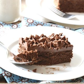 Dig in! The best THM low carb chocolate snack cake recipe.