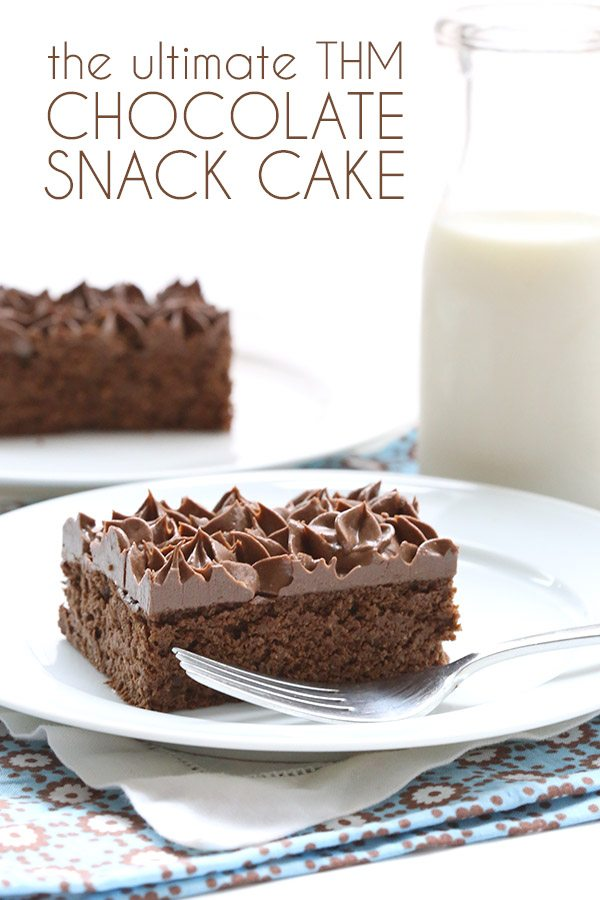 Possibly the best THM S chocolate snack cake. This low carb recipe will have you coming back for more!