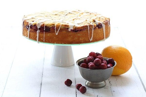 Low carb Cranberry Orange Coffee Cake Recipe