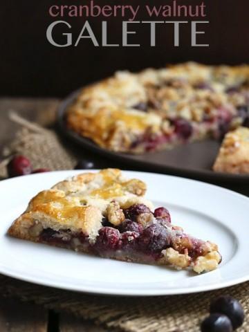 Low Carb Cranberry Walnut Galette Recipe