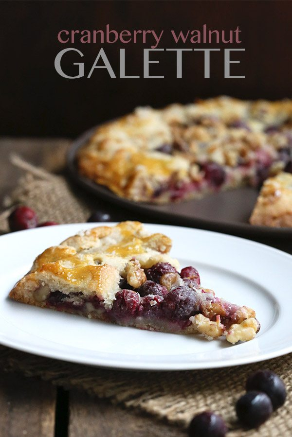 Low Carb Cranberry Walnut Galette Recipe