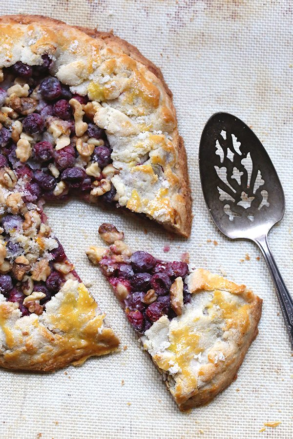 Low Carb Grain-Free Cranberry Walnut Galette Recipe