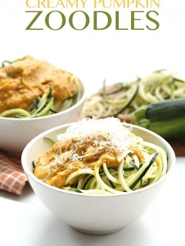 Low Carb Zucchini Noodles with Creamy Pumpkin Sauce