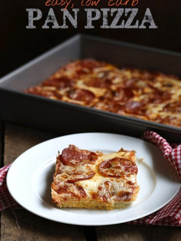 Easy low carb THM Pan Pizza Recipe