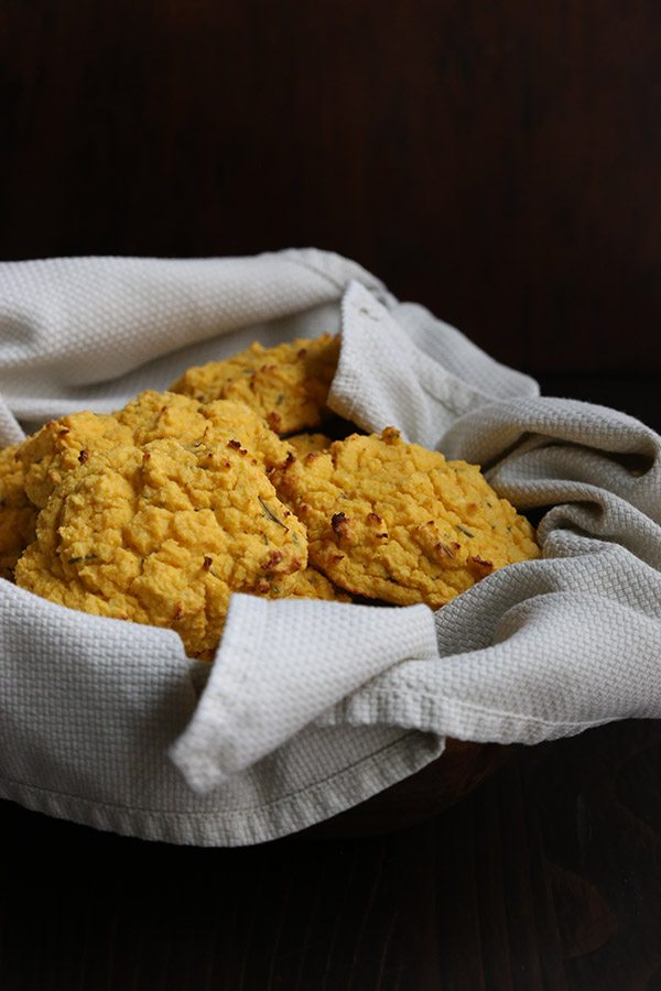 Delicious savoury pumpkin biscuits that are low carb and gluten-free.