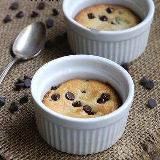 Single Serve Deep Dish Chocolate Chip Cookie