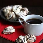 Low Carb Sugar-Free Chocolate Swirled Meringues