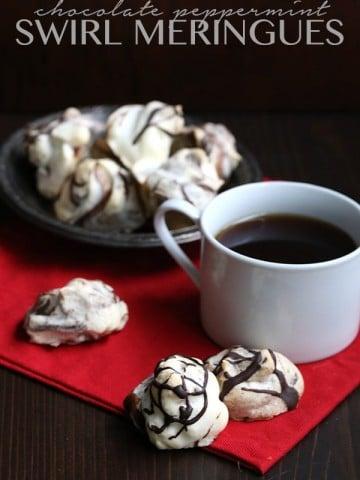 Low Carb Sugar-Free Chocolate Swirled Meringues