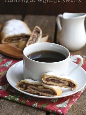 Low Carb Keto Chocolate Walnut Swirls