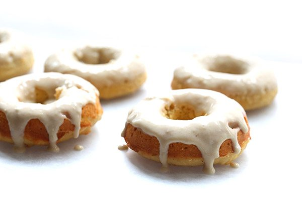 Delicious almond flour eggnog donuts. Low carb and grain-free.