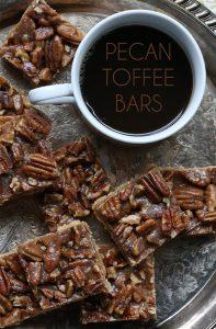 Low Carb Pecan Toffee Bars - grain-free and sugar-free
