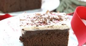 Peppermint Mocha Poke Cake