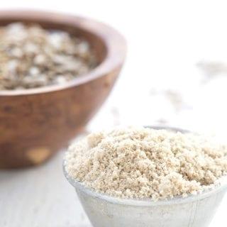 Close up shot of sunflower seed flour