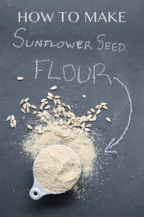 How to make your own sunflower seed flour, a great nut-free low carb flour alternative!