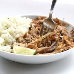 Serve these paleo carnitas with cauliflower rice for a healthy low carb ketogenic meal