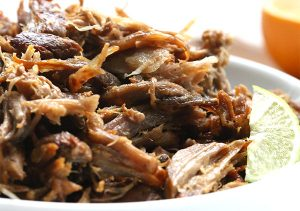 Mmmmm, carnitas. This recipe is low carb, paleo and Whole 30 compliant.