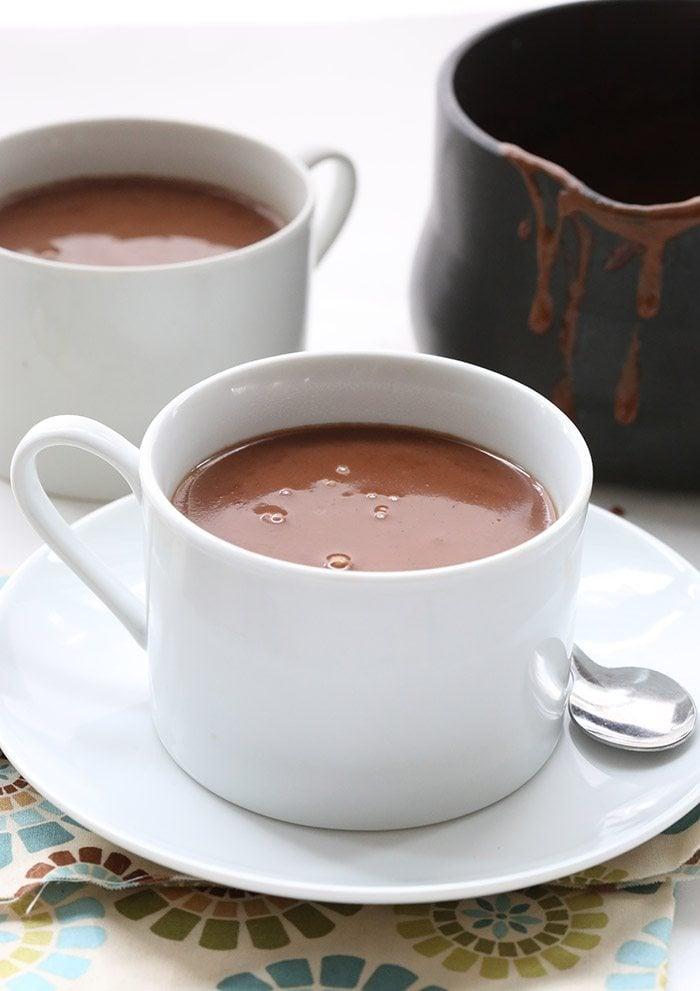 chai spice drinking chocolate close up