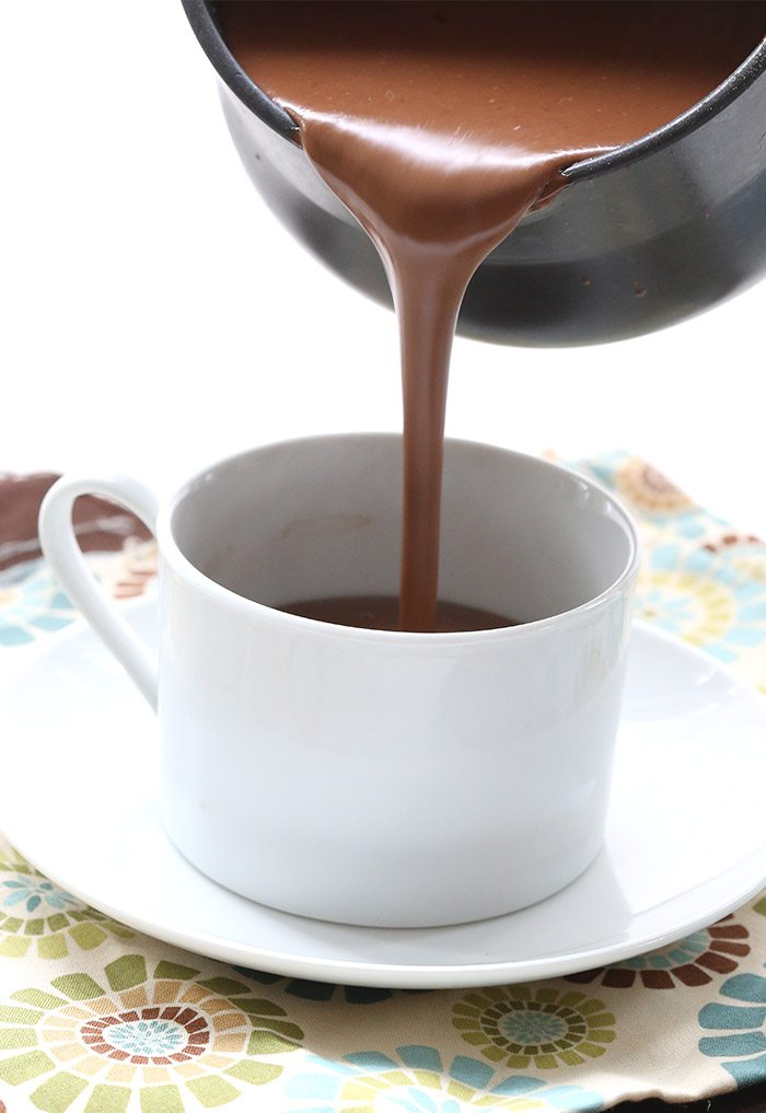 Chai Spice Drinking Chocolate pour