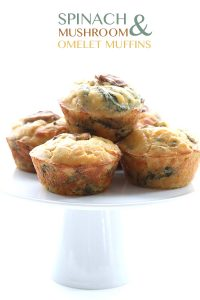 Easy make-ahead Spinach Mushroom Omelet Muffins. A great portable grain-free, low carb breakfast!