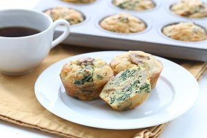 Get your protein and veggies in one easy, low carb muffin recipe.