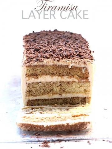 Low Carb Grain-Free Tiramisu Layer Cake
