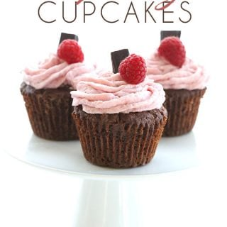 Chocolate Raspberry Filled Cupcakes