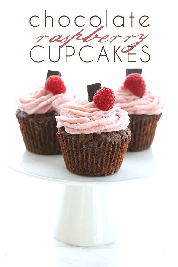 Low Carb Raspberry Filled Chocolate Cupcakes with Raspberry Cream Cheese Frosting