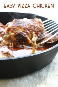 Low Carb One Pan Pizza Chicken