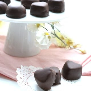 Low Carb Sugar-Free Marzipan dipped in dark chocolate