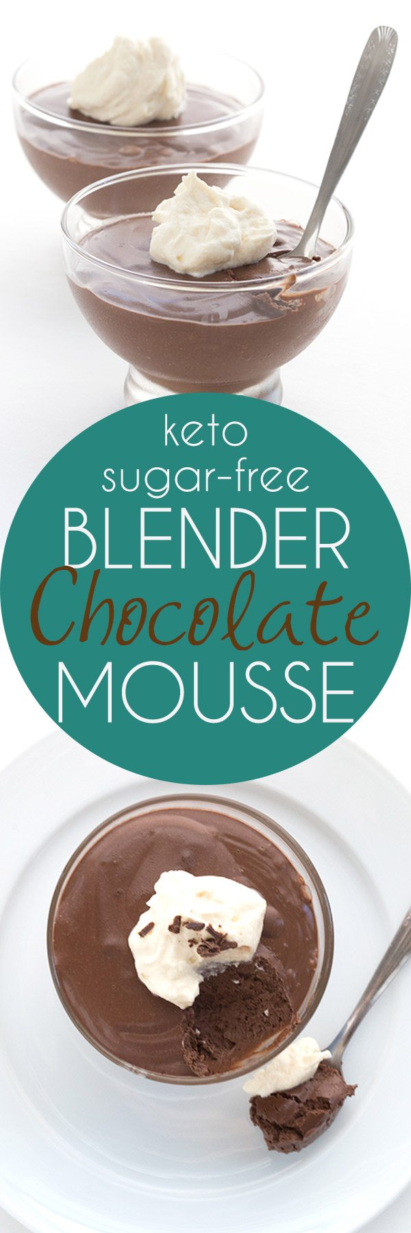 Easy Low Carb Blender Mousse - whip up rich keto chocolate mousse any old time. It's ready in minutes! #keto #lowcarb #sugarfree #ketorecipes