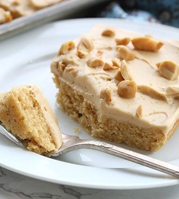 Low Carb Peanut Butter Texas Sheet Cake