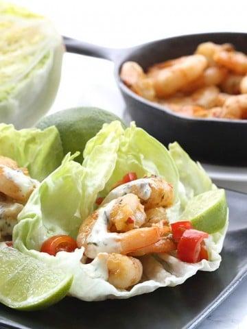 Low Carb Thai Shrimp Lettuce Wraps Recipe