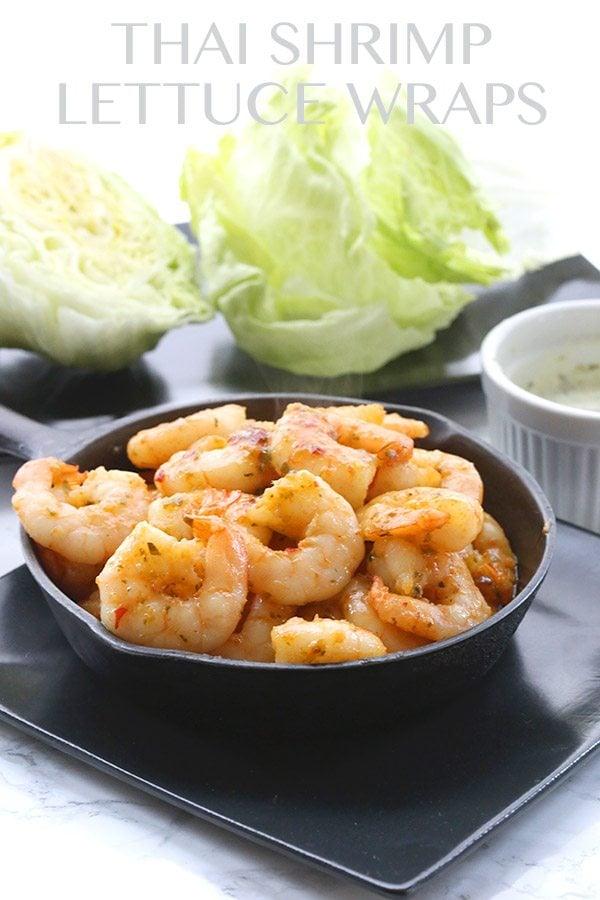 Easy Thai Shrimp Lettuce Wraps recipe